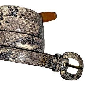 NEW Cole Haan Snake Print Belt XL